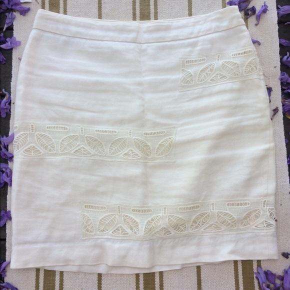 908c91ebb Anthropologie Moulinette Soeurs White Linen Skirt.  M_5b3fe217d6dc5268c92119fd
